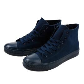 Dark blue men's high sneakers XN50 navy 2