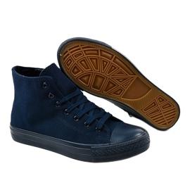 Dark blue men's high sneakers XN50 navy 3