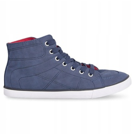 High Casual Sneakers 033 Navy Blue 3