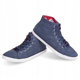 High Casual Sneakers 033 Navy Blue 2