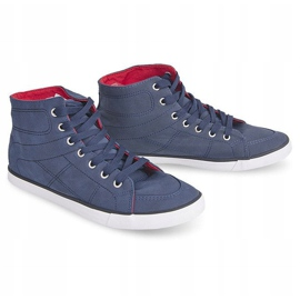 High Casual Sneakers 033 Navy Blue 4