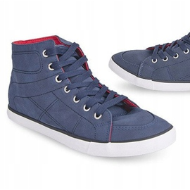 High Casual Sneakers 033 Navy Blue 5