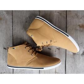 Skate 66511 Beige High Sneakers 2