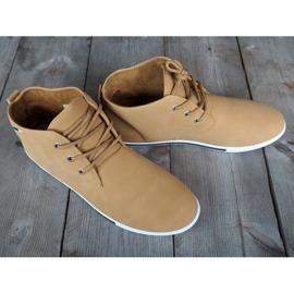 Skate 66511 Beige High Sneakers 3