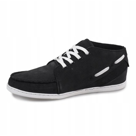 High Leather MID1 Black Sneakers 3