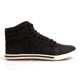 Fashionable High Sneakers 012M Black 1