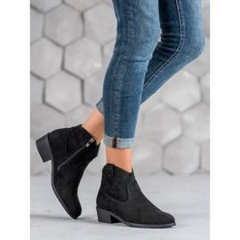 Filippo Suede Cowboy boots black 1