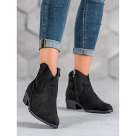 Filippo Suede Cowboy boots black 2