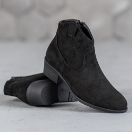 Filippo Suede Cowboy boots black 3