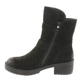 Black Suede leather boots Daszyński 161 2