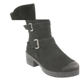 Black Suede leather boots Daszyński 161 1