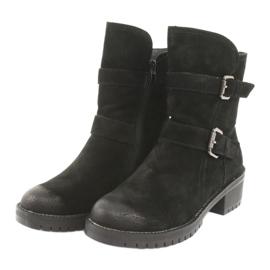 Black Suede leather boots Daszyński 161 3
