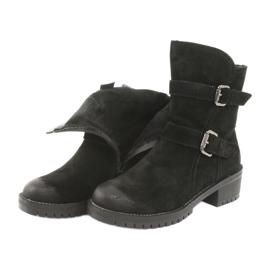 Black Suede leather boots Daszyński 161 5