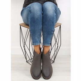 Gray Chelsea boots for women 6768-PA Gray grey 5