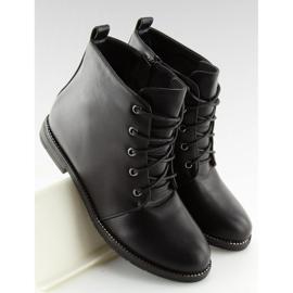 Black lace-up boots 3085 Black 5