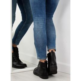 Black lace-up boots 3085 Black 1
