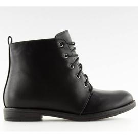 Black lace-up boots 3085 Black 2