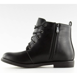 Black lace-up boots 3085 Black 4