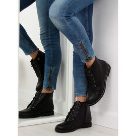 Black lace-up boots 3085 Black 3
