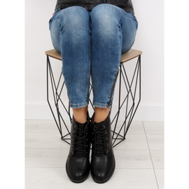 Black lace-up boots 3085 Black 7
