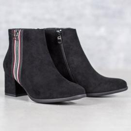 Filippo Boots With Decorative Zipper black 2