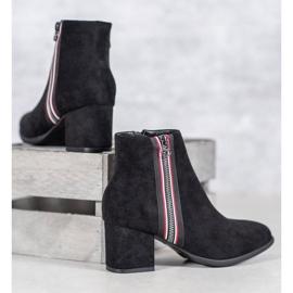 Filippo Boots With Decorative Zipper black 3