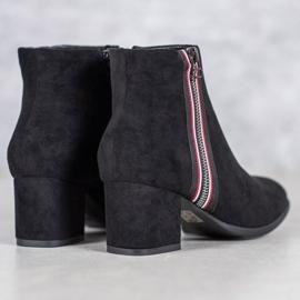 Filippo Boots With Decorative Zipper black 1