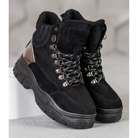 Lace-up VICES boots black 4