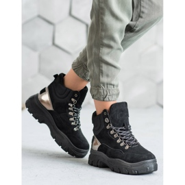 Lace-up VICES boots black 1