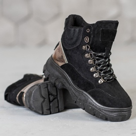 Lace-up VICES boots black 3
