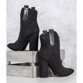 VICES suede cowboy boots black 1