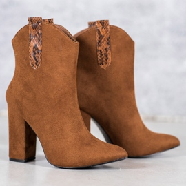 VICES suede cowboy boots brown 1