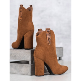VICES suede cowboy boots brown 3