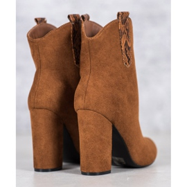 VICES suede cowboy boots brown 2