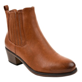 TX-3200 slip-on brown ankle boots 1