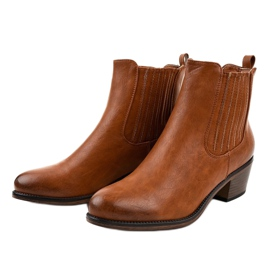 TX-3200 slip-on brown ankle boots 2