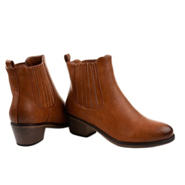 TX-3200 slip-on brown ankle boots 3