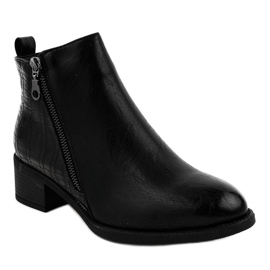 Black ankle boots with a TX-3201 zipper 1