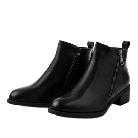 Black ankle boots with a TX-3201 zipper 2