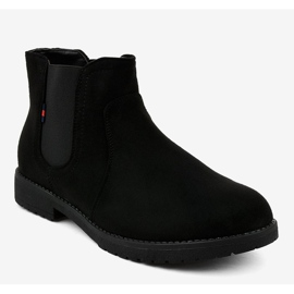 Black flat women's boots with an elastic Y206 1