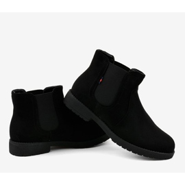 Black flat women's boots with an elastic Y206 3