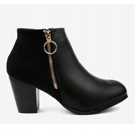 Black ankle boots with A166-1 zipper 2
