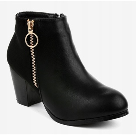 Black ankle boots with A166-1 zipper 1
