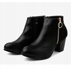 Black ankle boots with A166-1 zipper 3