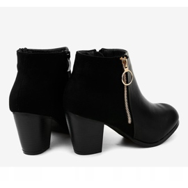 Black ankle boots with A166-1 zipper 4