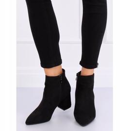 Black high-heeled boots Q1AX608-1 Black 1