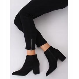 Black high-heeled boots Q1AX608-1 Black 2