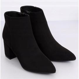 Black high-heeled boots Q1AX608-1 Black 3
