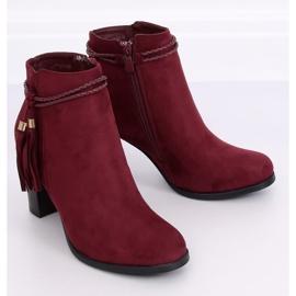 High-heeled burgundy boots VQ-31 Winered 5