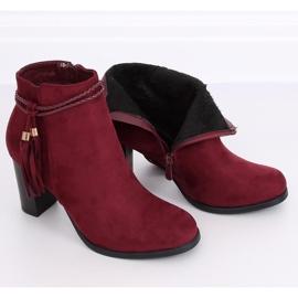 High-heeled burgundy boots VQ-31 Winered 2